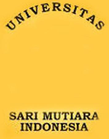 Tulisan Universitas Sari Mutiara Indonesia menunjukan nama universitas